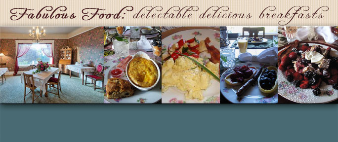 We serve sumptuous breakfasts indoors or outside in fine weather